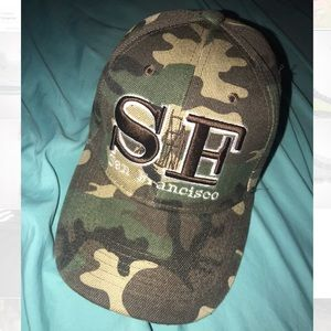 Unisex Army Camo San Francisco dad hat -Never worn